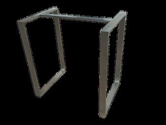 Estructura en acero inoxidable satinado para cualquier tipo de mesa