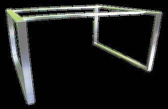 Estructura para mesa en acero inoxidable satinado