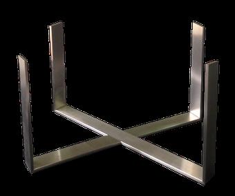 Estructura barata de diseño en acero inoxidable para mesa.