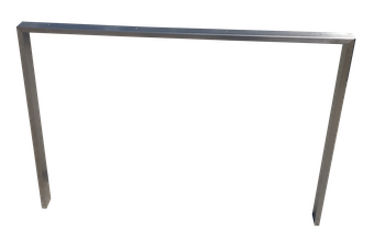 P004 pata fabricada en tubo de 60 x 20mm.
