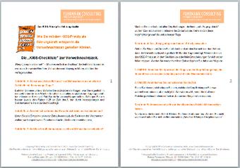 Checkliste © Bianca Fuhrmann, #ProjektVoodoo
