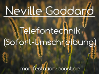 Neville Goddard - Telefontechnik (Sofort-Umschreibung)
