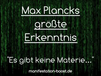 """Max Plancks größte Erkenntnis: """"Es gibt keine Materie an sich"""""""