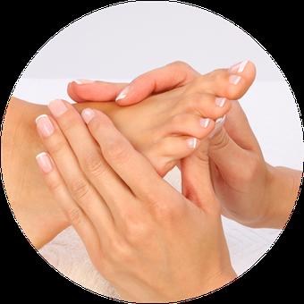 Medizinische Fusspflege - Dekofoto Massage