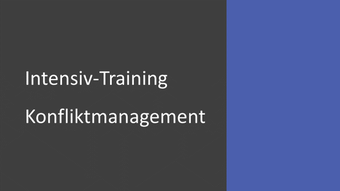 Intensiv-Training Konfliktmanagement