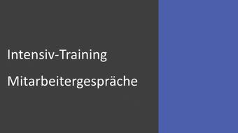 Intensiv-Training Mitarbeitergespräche