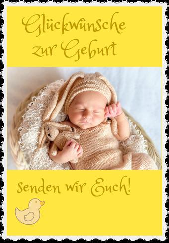 Gute Wünsche zur Geburt
