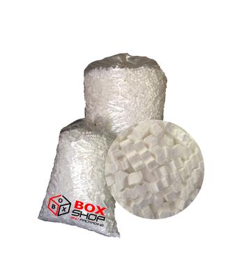 Polystyrene chips for packaging