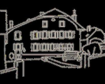 Maison et Vieux Pressoir à la Place du Collège à Rivaz