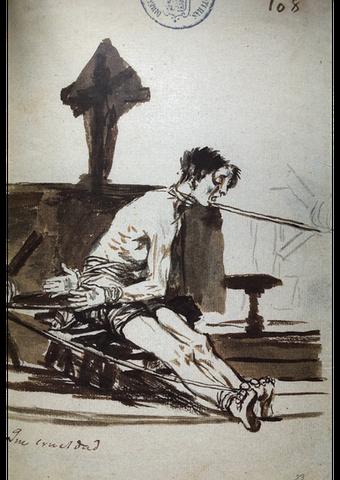 "Francisco De Goya, ""Che crudeltà!"" (1814-1823)"