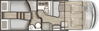 Grundriss Mobilvetta K-Yacht Tekno Design 85