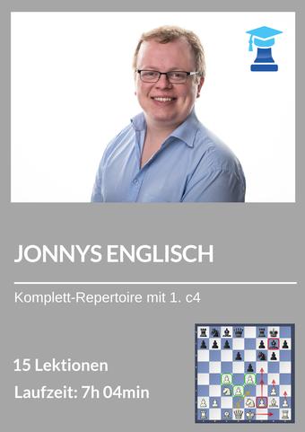 Schach-Eröffnungskurs, Jonnys Englisch, IM Jonathan Carlstedt