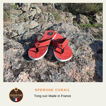 Tong cuir Française