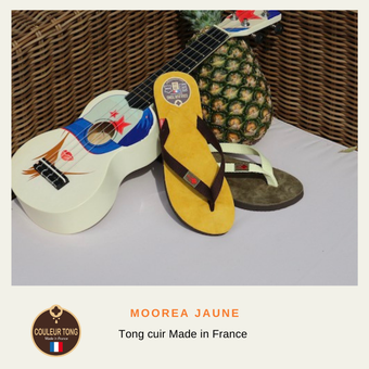 tong cuir made in France
