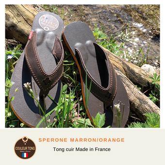 tong cuir homme made in France