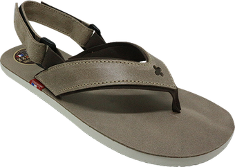 Sandale tong cuir Taupe