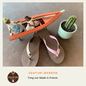 tong cuir homme