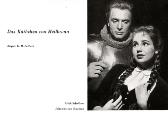 Schiller-Theater, Heft 78; 1958-1959 - Das Käthchen von Heilbronn - Erich Schellow/Johanna von Koczian
