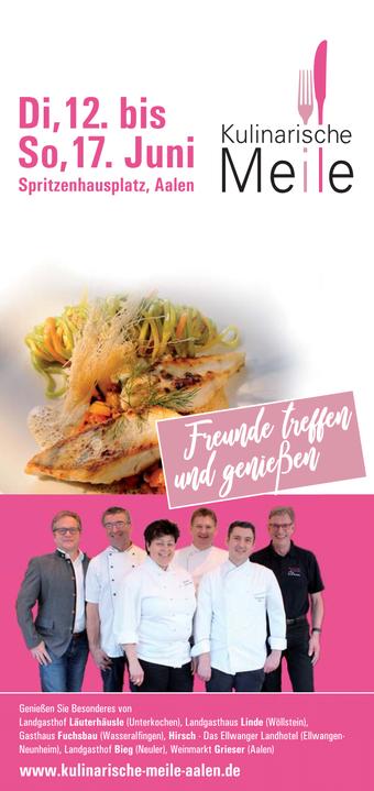 Kulinarische Meile Aalen 2018