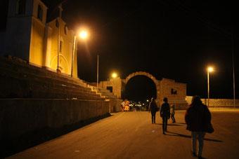 Passage de la frontière de nuit