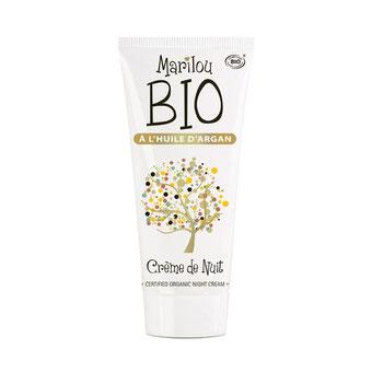 Crème de nuit argan Marilou bio, top 10 des soins visage bios spécial peaux déshydratées/sèches, just'pour soi