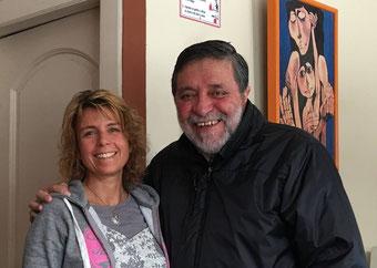 Andrea Schibli mit Rigoberto Chauvin