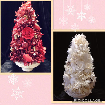 #クリスマス飾り#名古屋プリザーブドフラワー#プリザーブドフラワー#クリスマスデコレーション#プリザーブドフラワー名古屋#ツリーアレンジ