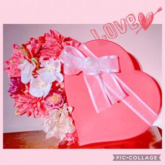 #ハートのアレンジ#バレンタインアレンジ#結婚式受付#プレ花嫁DIY#手作りウェディング#バレンタインディスプレイ#結婚式のディスプレイ#花のある暮らし