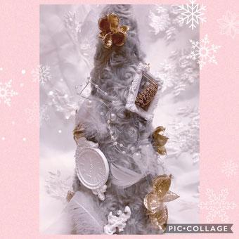 #フワフワツリー#クリスマスツリー#手作りクリスマスツリー#ファーツリー#アロマハイストーン#プリザーブドフラワー名古屋#手作りレッスン名古屋#アロマハイストーン名古屋