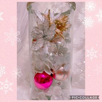 #クリスマスアレンジ#アーティフィシャルフラワー#ポインセチア#手作りウェディング#プレ花嫁DIY
