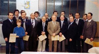 Brieftaubenverein Flehingen 1984 – Ehrungen für 25 Jahre Mitgliedschaft