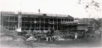 Richtfest am Schulhaus in Flehingen 1957