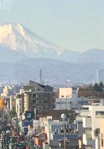 ☆珍しく雲一つない快晴で富士山を眺めました。