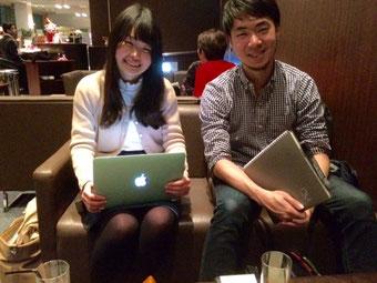 ☆左の女性はHitoha Otomoさん。右の男性は豊田 健さん。撮影&アップはご了解済み。