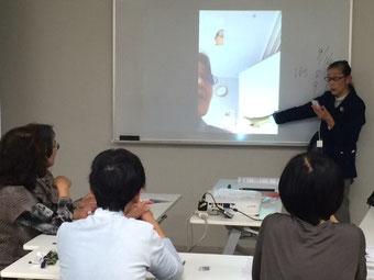 ☆まず生田美子主任研究員さんがFaceTimeの説明をしています。