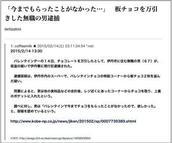 ☆2月14日のSmartNewsより。
