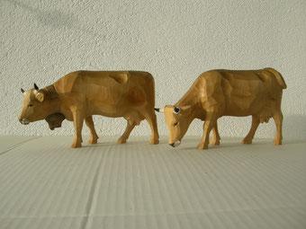 Kuh Holzschnitzerei