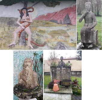 """La Femme au serpent / Une Vendéenne / Moïse / Le puits avec la """"Vieille Dupuy"""""""