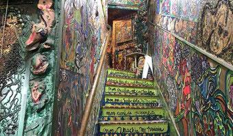 Escalier intérieur de la Maison de Celle qui peint