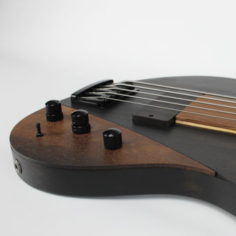 4 band equalizer in a custom bog oak bass from ulrich bass design. one of my best basses. for sale now in our online shop