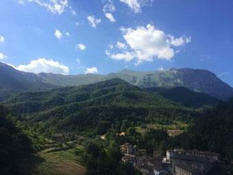 Veduta panoramica di Arquata del Tronto.