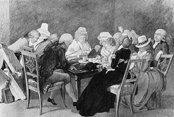 Geselliges Zusammensein bei der Herzogin Anna Amalia