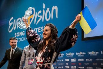Ukraine 12 points. | Bild: Anna Velikova (EBU)