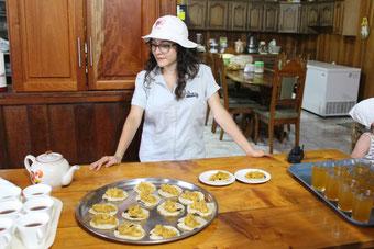 Mini-Tortillas mit Reis und Bohnen, COsta Rica, Essen, typisch, Gericht