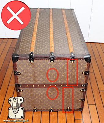Louis Vuitton make-up under trunk attentions scam