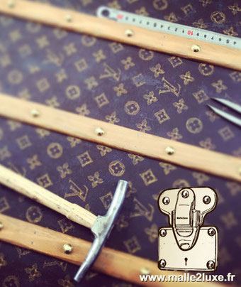 Savoir faire Louis Vuitton restauration de malle de luxe