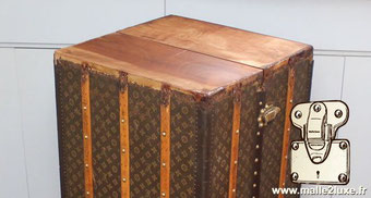 wood restoration of a louis vuitton trunk