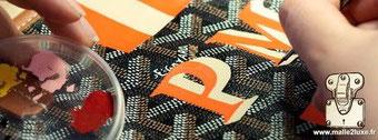 peindre des initiale sur sa malle décorative