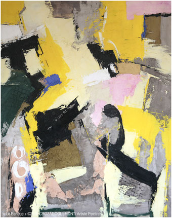 Tableau peinture abstraite moderne et unique crozat coulmont for Galerie art abstrait