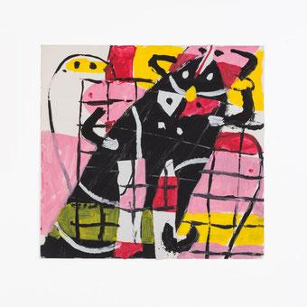 SPUR-Malspiel, Ohne Titel (Herr mit Fliege),1965, Foto: Andreas Pauly.
